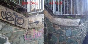 Granite Graffiti Power Cleaning