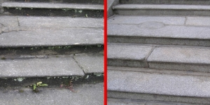 Granite Steps Before And After